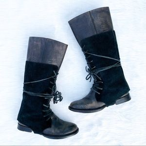 Shoes - ESQUIVEL Handmade Distressed Leather Riding Boots